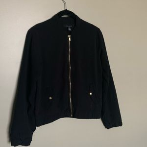 Majora black zip up bomber jacket size S